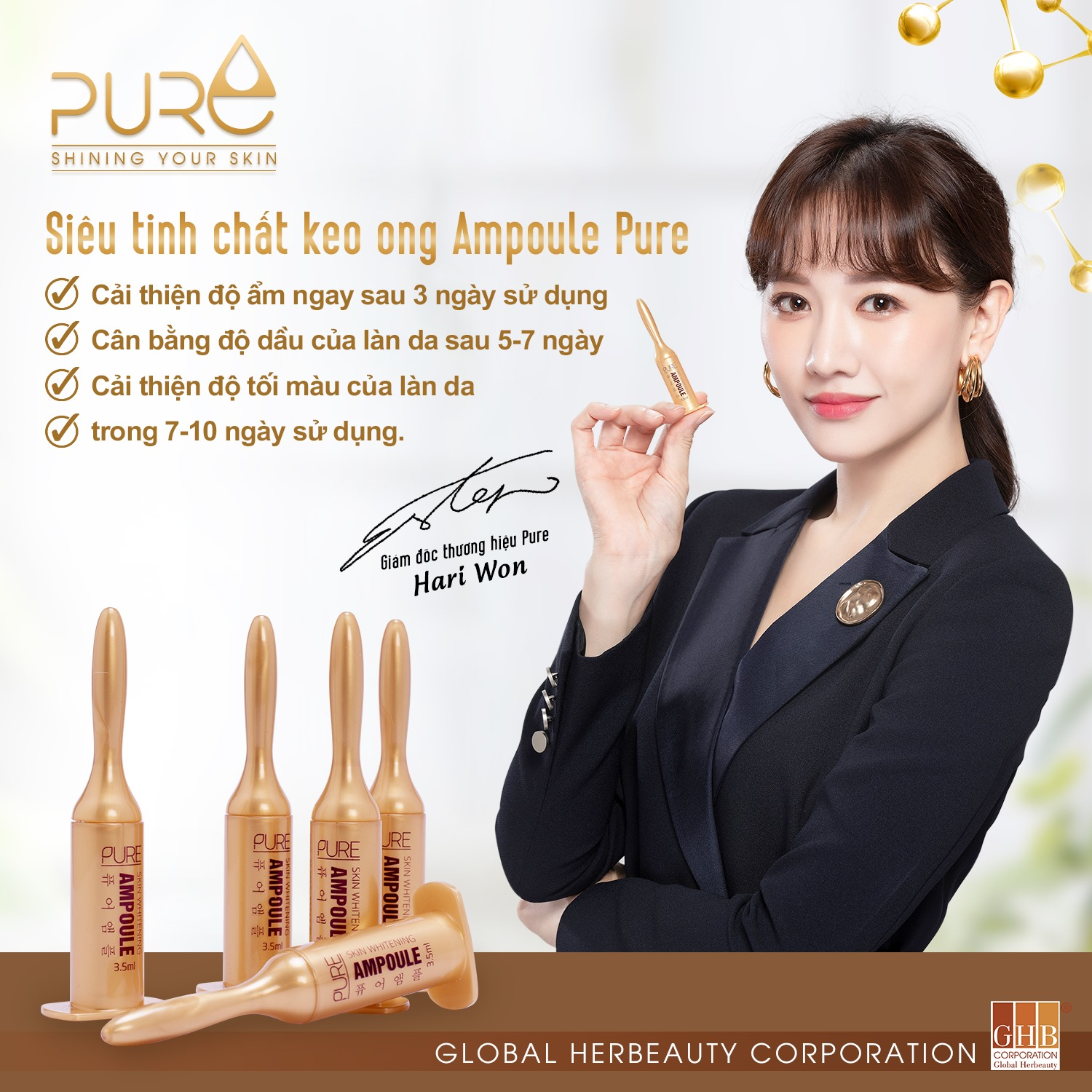 SKIN WHITENING PURE AMPOULE